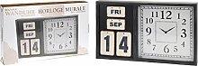 Nostalgische Wanduhr mit Kalender von SEGNALE