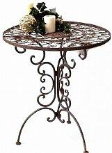 Nostalgischer Tisch rund Tecla Metall Gartentisch