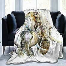 Not Applicable Adults Blankets,Elefant Mutter Und