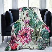 Not Applicable Adults Flannel Blankets,Cactus