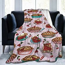 Not Applicable Flannel Blankets,Cherry Pies Pink