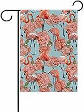 Not applicable Polyester Garten Flagge, Flamingo