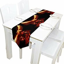 NotApplicable Table Runners Red Burning Phoenix