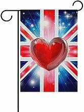Not applicable Valentinstag Garten Flagge Herz Mit