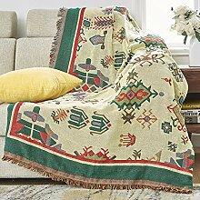 not Decke Sofa Decken Couch-Überwurf Plaid Vier