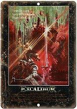 not Excalibur Filmposter Blechschild Blechschild