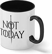 Not Today Arya Stark Schwarze Innenseite mit