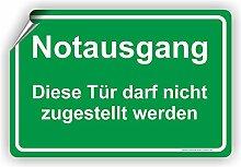 NOTAUSGANG / Diese Tür darf nicht zugestellt