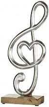 Notenschlüssel mit Herz antik silber aus Alu und