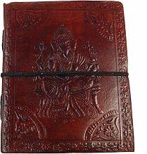 Notizbuch, Lederbuch, Tagebuch mit Ganesha 12*15 cm / Notizbücher und Tagebücher