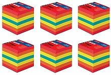 Notizklotz 9x9cm 700Blatt farbig geleimt mit