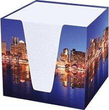 Notizklotz Skyline 70 g/qm 92x92x92mm weiß 900