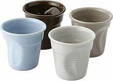 noTrash2003 4 farbige Espressotassen aus Keramik