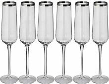 noTrash2003 6er Set Luxus Champagnergläser Sekt