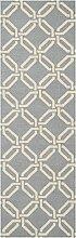 Nourison Teppich Mondrian 99446279644–Licht blau handgewebt Teppich, hellblau, 2ft 3Zoll x 7ft 6