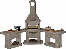 Nova Grillkamin Außenküche braun / Wellfire