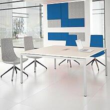 NOVA Konferenztisch 160x164cm Ahorn mit