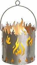 Novaliv Gartenlaterne Feuer Laterne Rost Metall