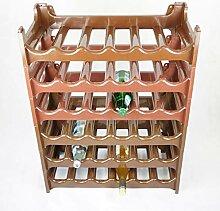 Novaliv Weinregal für 36 Flaschen | braun | aus