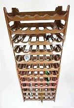 Novaliv Weinregal für 72 Flaschen | braun | aus