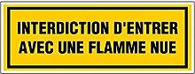 novap–Panneau–Verbot Eintritt mit Flamme–330x 120mm Hartschale