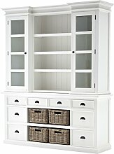 NovaSolo Hutch Bücherregal, Holz, Weiß, 160 x 50