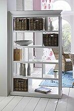 NovaSolo Raumteiler mit Korbset, Holz, Weiß, 120