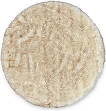 Novel FELLTEPPICH Lucia , Creme , rund , 120 cm ,