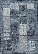 Novel FLACHWEBETEPPICH 200/200 cm Blau ,