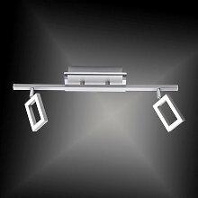 Novel LED-DECKENLEUCHTE , Nickelfarben, Metall,