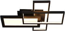 Novel LED-DECKENLEUCHTE , Schwarz, Metall,