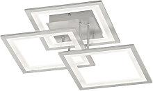 Novel LED-DECKENLEUCHTE , Silber, Metall,