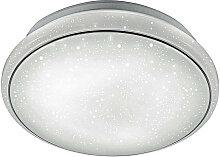 Novel LED-DECKENLEUCHTE , Weiß, Metall, Kreise,