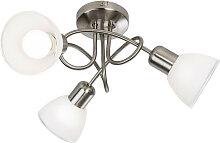 Novel LED-STRAHLER , Weiß, Metall, Glas