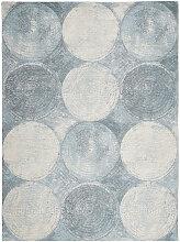 Novel VINTAGE-TEPPICH 120/180 cm Blau, Weiß ,