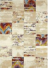Novel VINTAGE-TEPPICH 160/230 cm Beige , Karo,