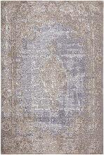 Novel VINTAGE-TEPPICH 200/290 cm Blau, Beige ,