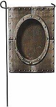 Novelcustom Garden Flag,Dampf Gepanzerte Metall