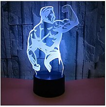 Novelty 3D Lampe Bodybuilding Muskel Led Usb Lampe