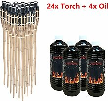 Noveste Bambusfackel 90cm Gartenfackel Bambus