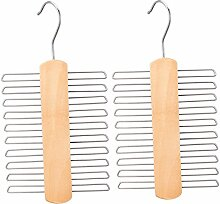 NOVESTE Holz Krawattenhalter Krawattenbügel für