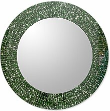 NOVICA Glas Mosaik Wandspiegel, Violett