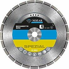 NOZAR Premium Diamantscheibe Schamotte SDW 350 x 30 mm für Feuerfeste Steine (Schamotte, Ofenmantelsteine, Kaminplatten etc.)