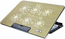 NQFL Laptop-Ständer GWDZX Desktop-Zervikale Wirbelsäule Büro-Computer-Racks Lift Tragbar Bracket Radiator Erhöhte Auflage,Gold-36*25.5*27cm