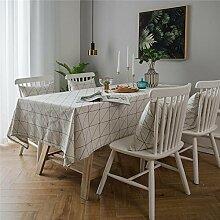 NQING Landhausstil Tischdecke Baumwolle & Leinen