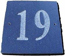 Nr. 19schwarz granit Haus Tür Nummer Platz