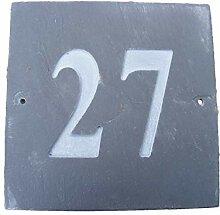 Nr. 27quadratisch natur grau Slate Haus Tür