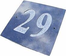 Nr. 29schwarz granit Haus Tür Nummer Platz