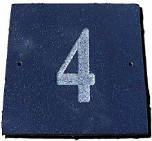 Nr. 4Schwarz Granit Haus Tür Nummer Platz