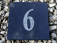 Nr. 6schwarz granit Haus Tür Nummer Platz